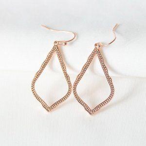 Kendra Scott Sophia Earrings Rose Gold w/Free S&H